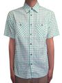 SCANNER/ GINGHAM CHECK SHIRTS【MINT】:リフレクトトヨハシ[REFLECT TOYOHASHI]